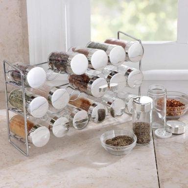 18 Jar compact spice rack organizer