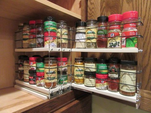 vertical spice rack cabinet mounted