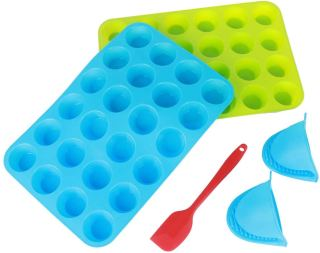 silicone cupcake mini  pan 24cups