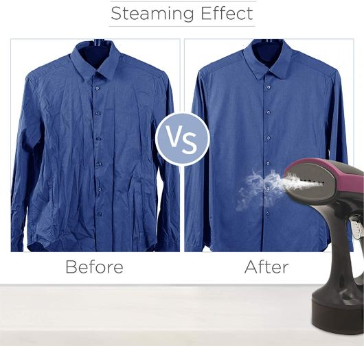 Steaming Effect before and after