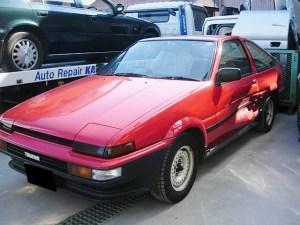トヨタ トレノ(AE86) 側面修理