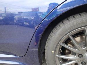 レヴォーグ バンパー修理・左リヤフェンダー板金・塗装