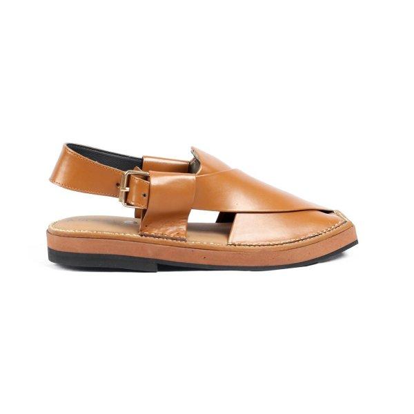 Kaptaan-Tan-Mens-Handmade-Leather-Peshawari-Chappal-Pakistan-UK