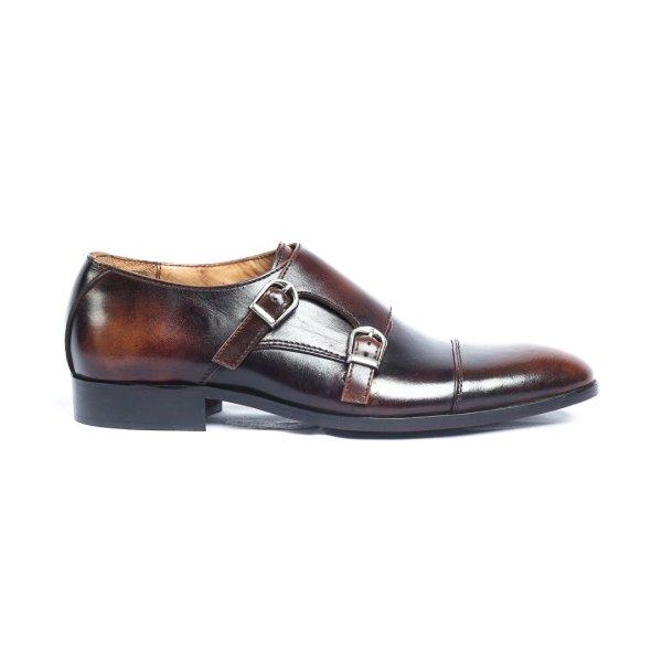 SauPaulo-Brown-Mens-Handmade-Monkstrap-Leather-Dress-Shoes-Pakistan-UK