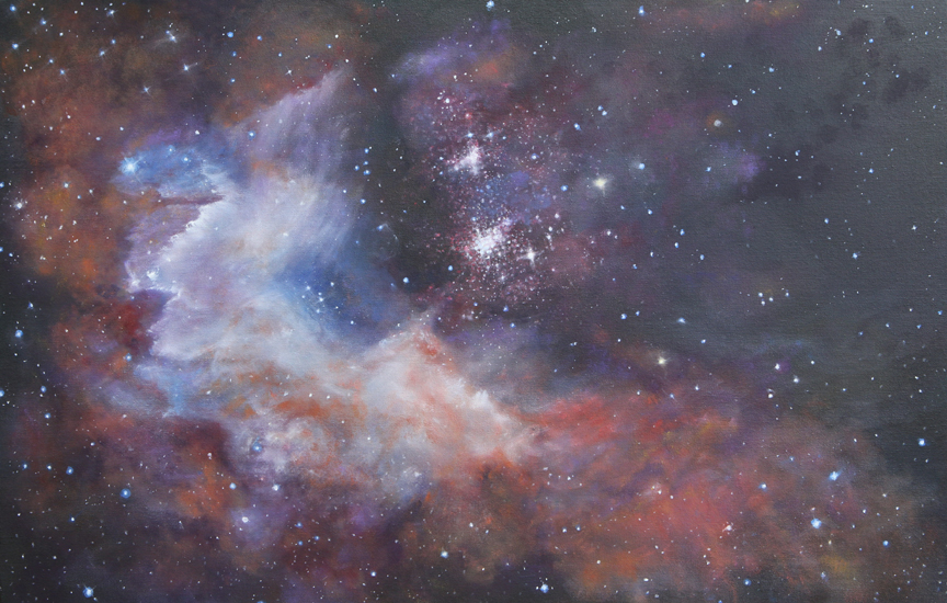 Nebula painting as part of the Cosmic Visions Collection