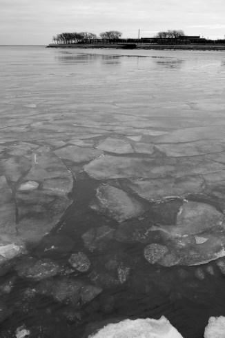January 2013 lakeshore ice Chicago