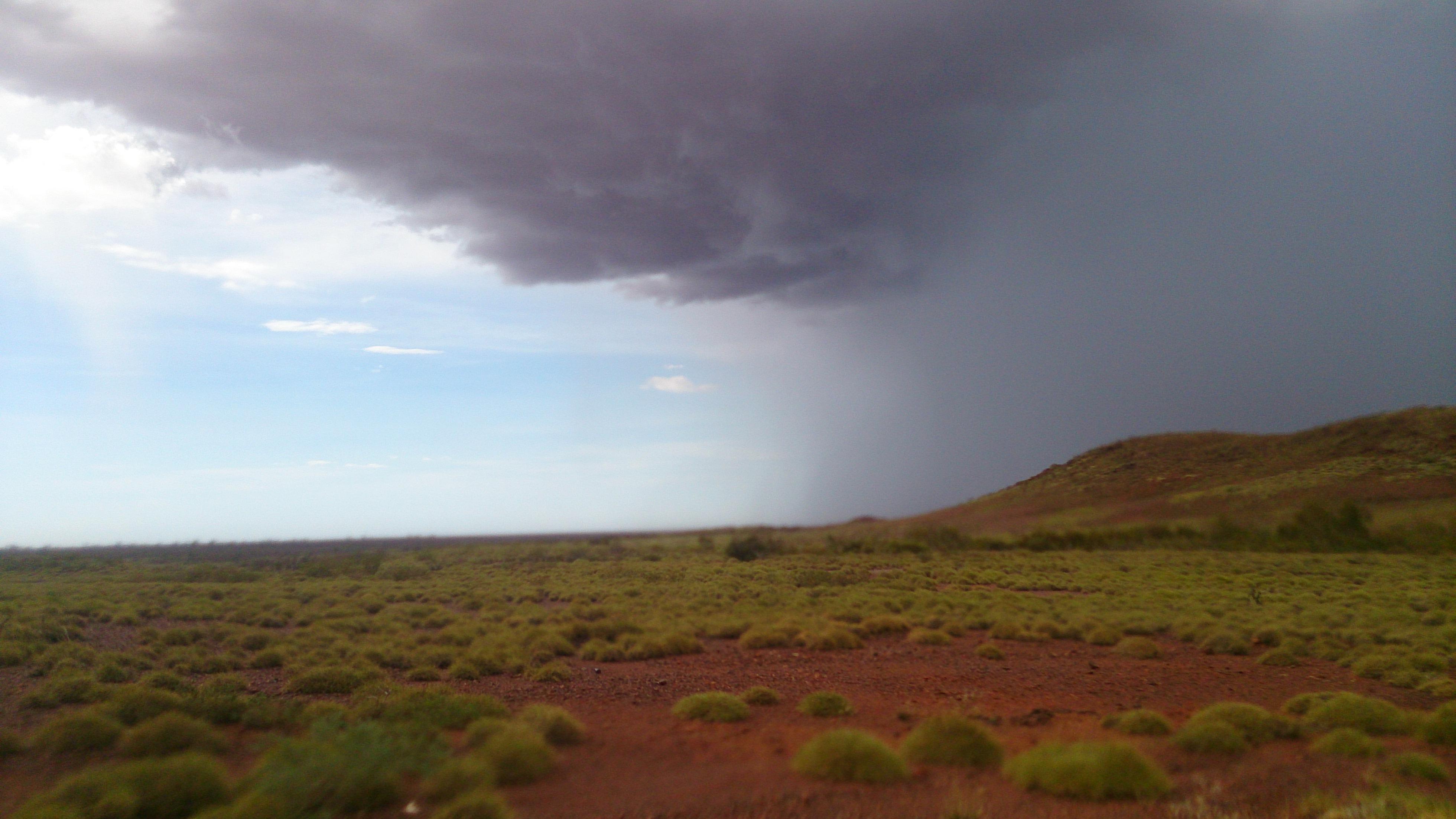 A storm in the Pilbara.