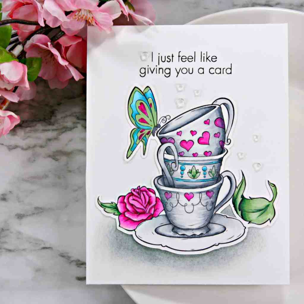 Copic Coloring Vintage Teacups - Jill Cameron Creations