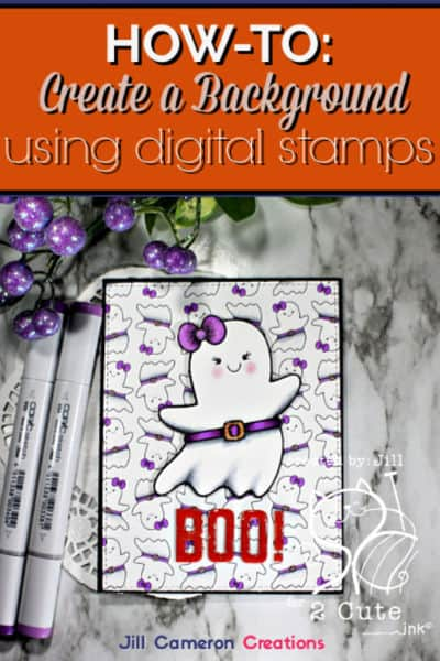 How-to: Create a background using a digital stamp