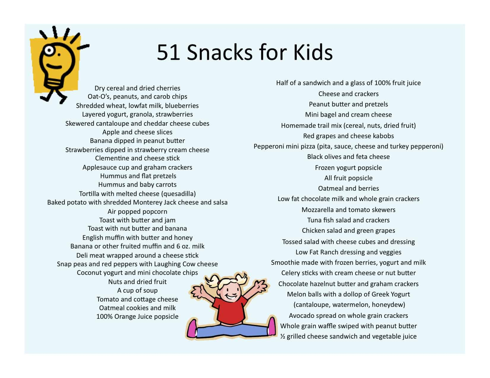 51 Snack Ideas For Kids