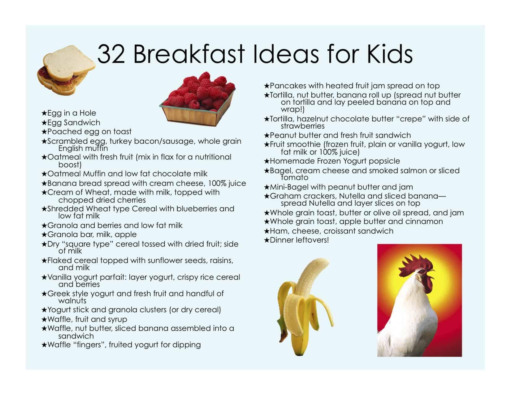 32 Healthy Breakfast Ideas For Kids