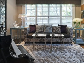 Custom sofa and area rug