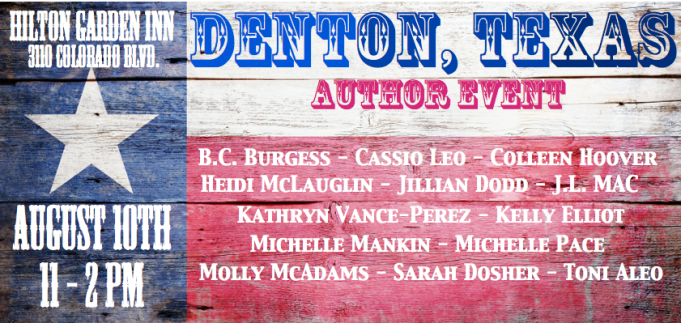 Denton Author Event Graphic