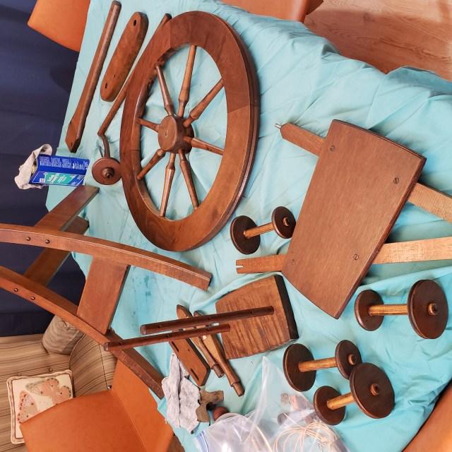 Vintage Ashford Traditional spinning wheel disassembled