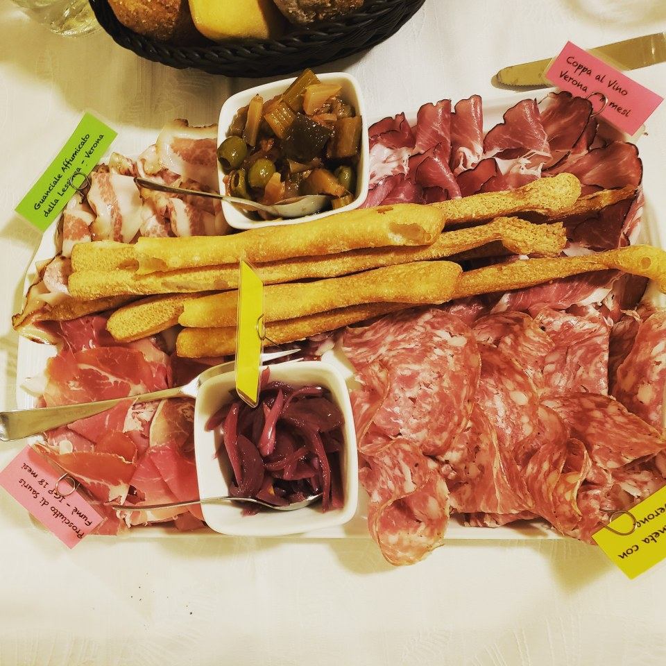 Charcuterie Board in Verona Italy Restaurant