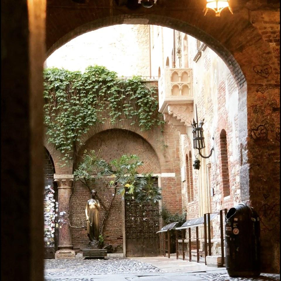 Juliet's Balcony in Verona Italy