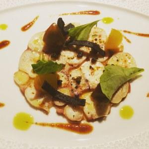 Robuchon L'Atelier Tasting Menu-Braised Octopus with lemon vinaigrette