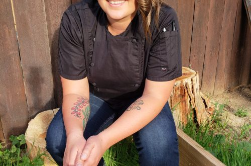Chef Jillian Fae (Chef sitting down outside)