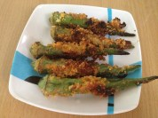 Crunchy okra which is an invention of mine