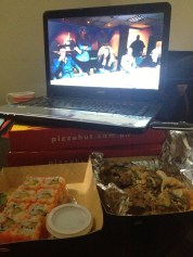Japanese & pizza delivery x Beyoncé documentary & Skins with Homie