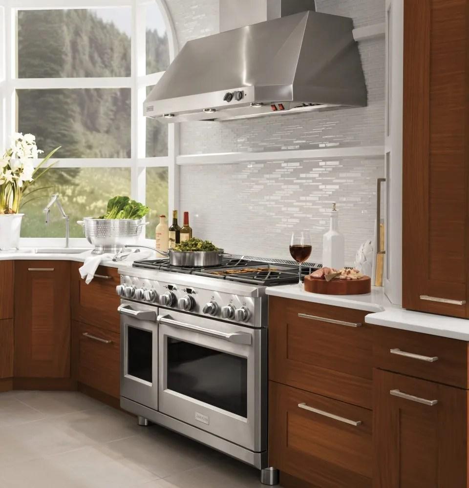 ge monogram appliances behind the