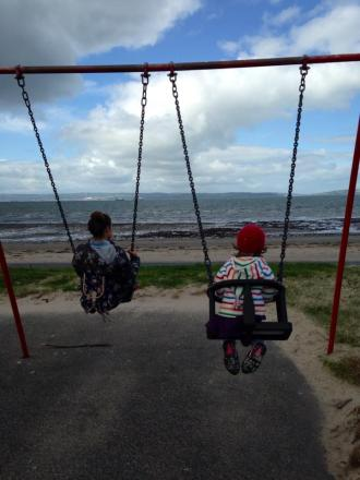 Swinging at ballyholme, because there's not much else better!