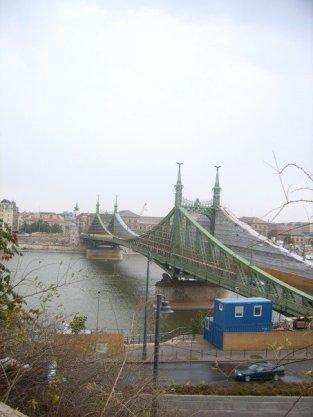The bridge across the Danube.