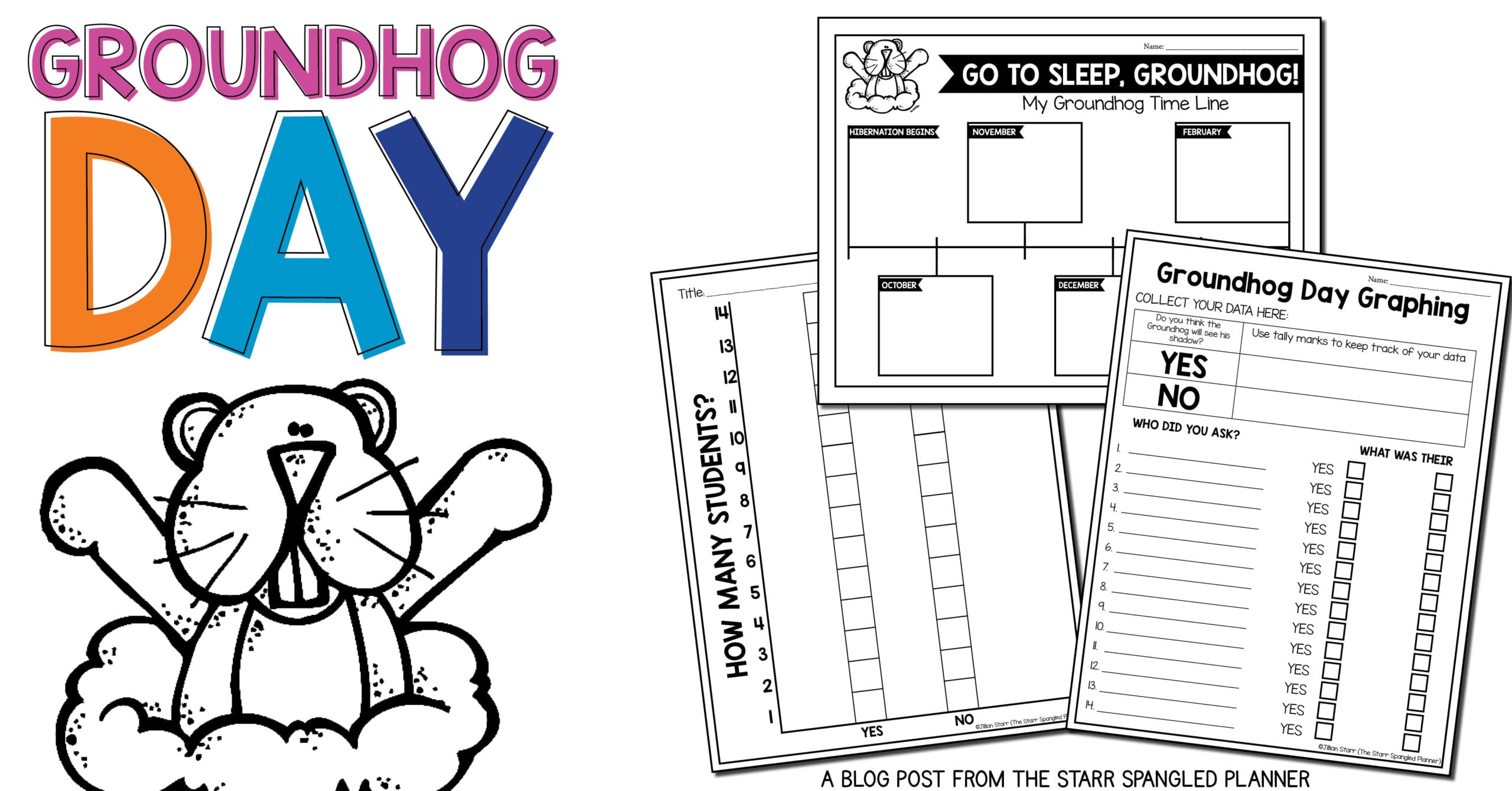 Groundhog Day Free Activities- Go Back To Bed Groundhog