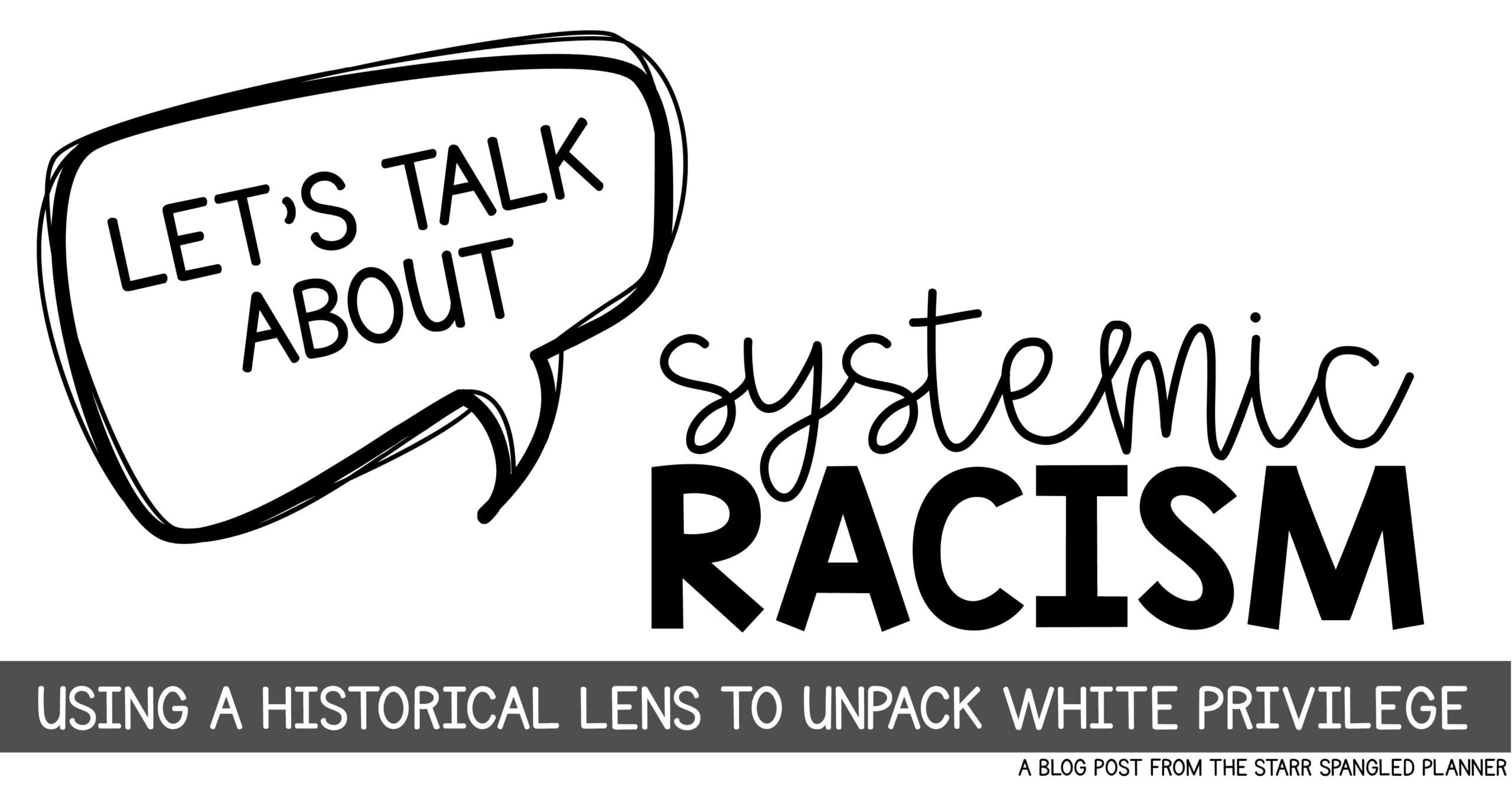 Systemic Racism, unpacking white privilege for teachers in the classroom