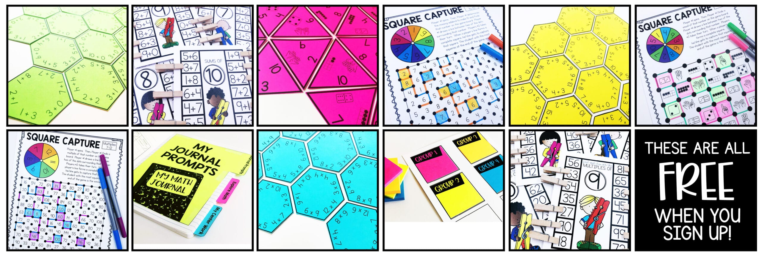 Guided Math Center Freebies