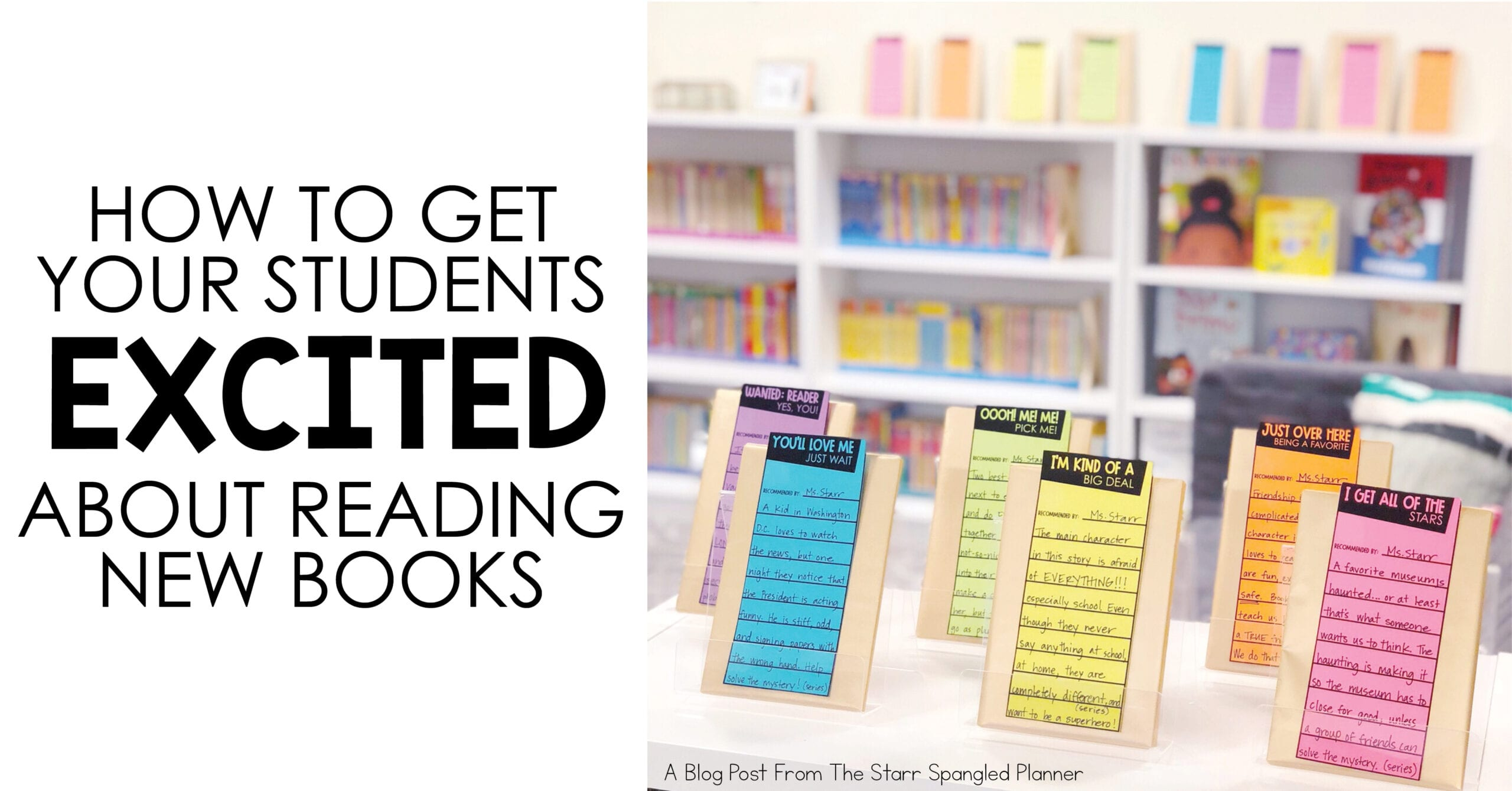 get your students excited about new books- recommended reading