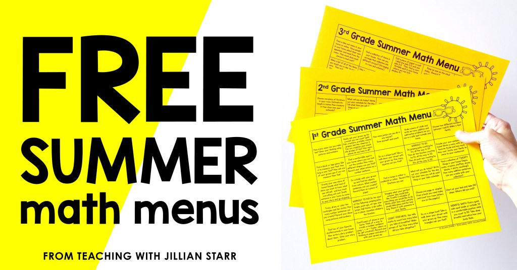These Summer Math Menus are one of my favorite things to send home with my students at the end of the year. The math activities are fun, engaging, and keep my students curious and thinking over the summer months. #WINNING