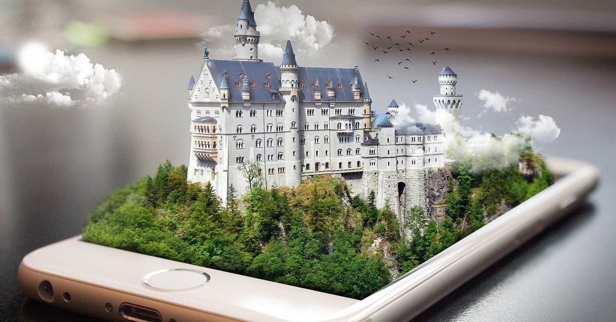 Castle on a cell phone