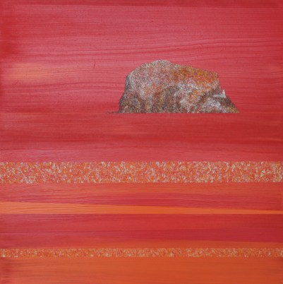 Evening glow Bass Rock - sold