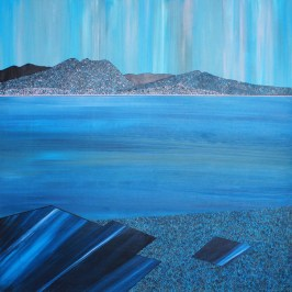 Carradale from Machrie, Arran. Acrylic on board, 60cm x 60cm