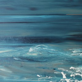 Distant Shore and storm Acrylic on board, 40cm x 20cm