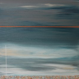 Distant Shore VIII Acrylic on board, 10cm x 10cm