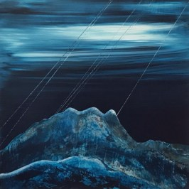 Fleeting glimpse, Assynt, Acrylic on board, 60cm x 60cm