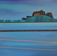 Evening lights, Edinburgh Castle - sold