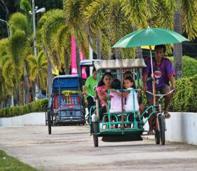 """Another income generating is the """"old school"""" mode of transportation here in my town, which we called Trisikad (Tri - from tricycle; Sikad - means pedal. We still love and enjoy this ride which we have been accustomed to long time ago."""