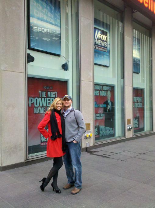 At FOX studios with husband, Justin
