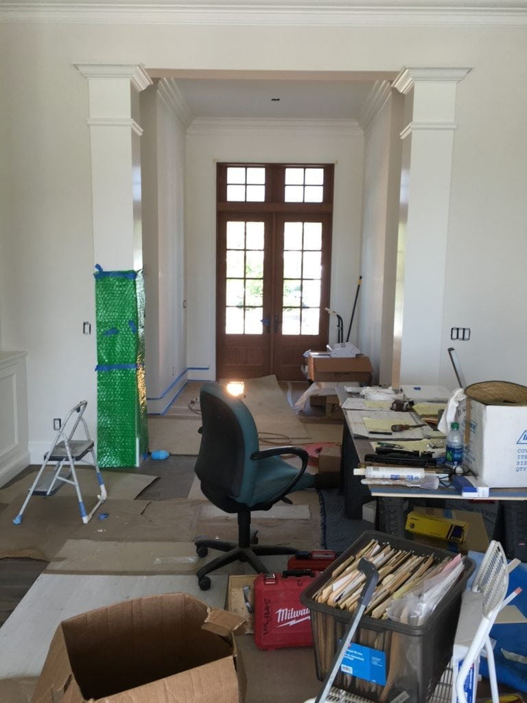 Jill Shevlin Design, Vero Beach Interior Designer, New Construction Home, During Construction photo of Entry