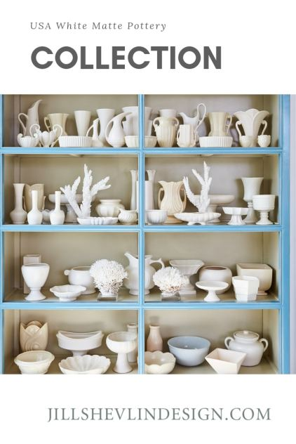 Collection USA White Matte Pottery Collection Jill Shevlin Design