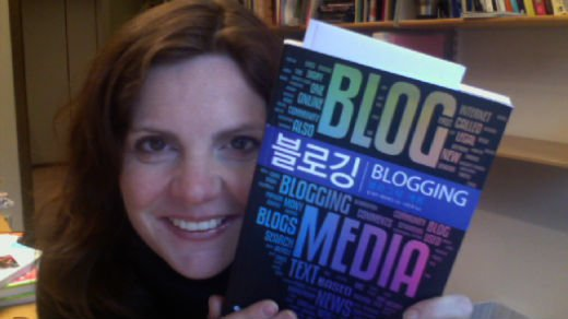 Jill with the korean edition of Blogging