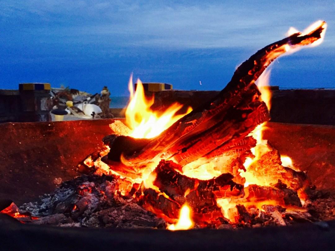 San Felipe Baja camp fire