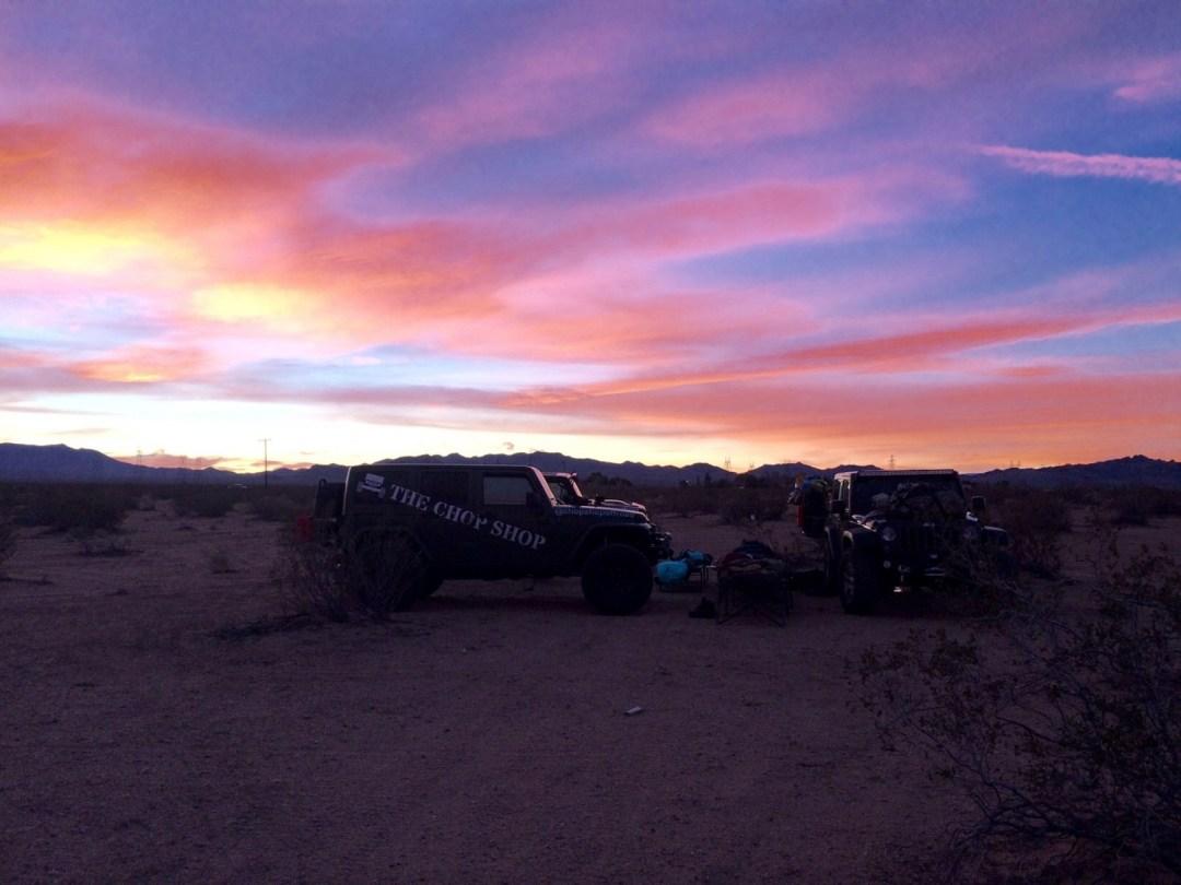Mojave Trail sunset