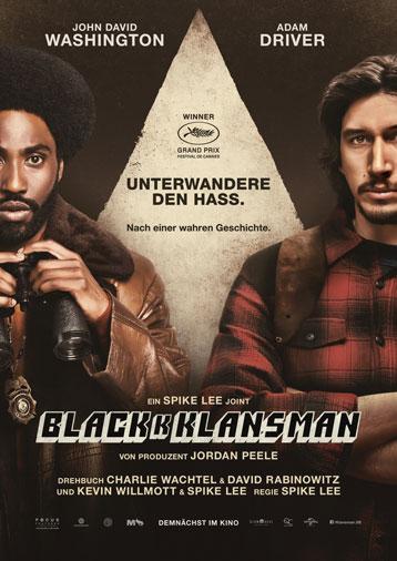 BlacKkKlansman ab 23. August im Kino