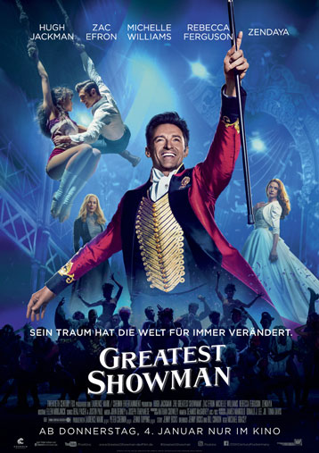 """The Greatest Showman"" ab 04. Januar im Kino"