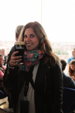 Jil im Guinness Storehouse