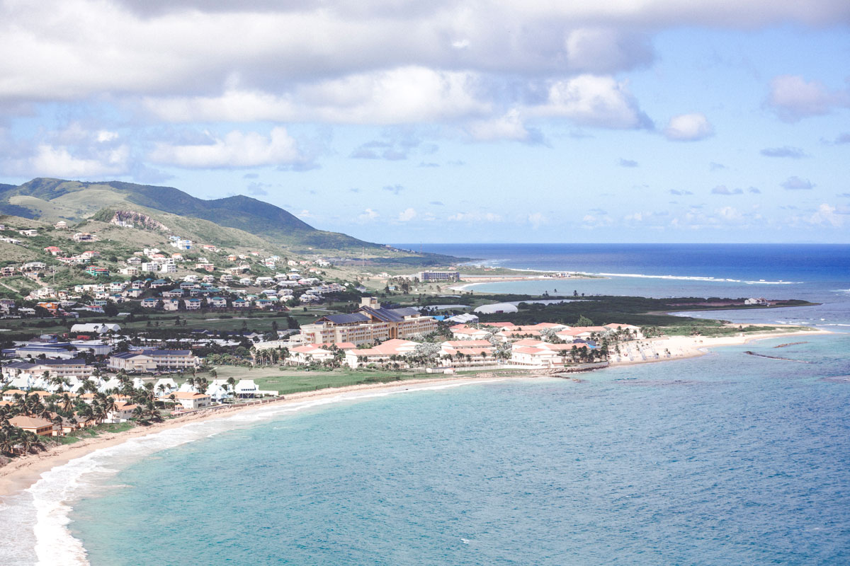 Der Strand vom Marriott Resort. St. Kitts